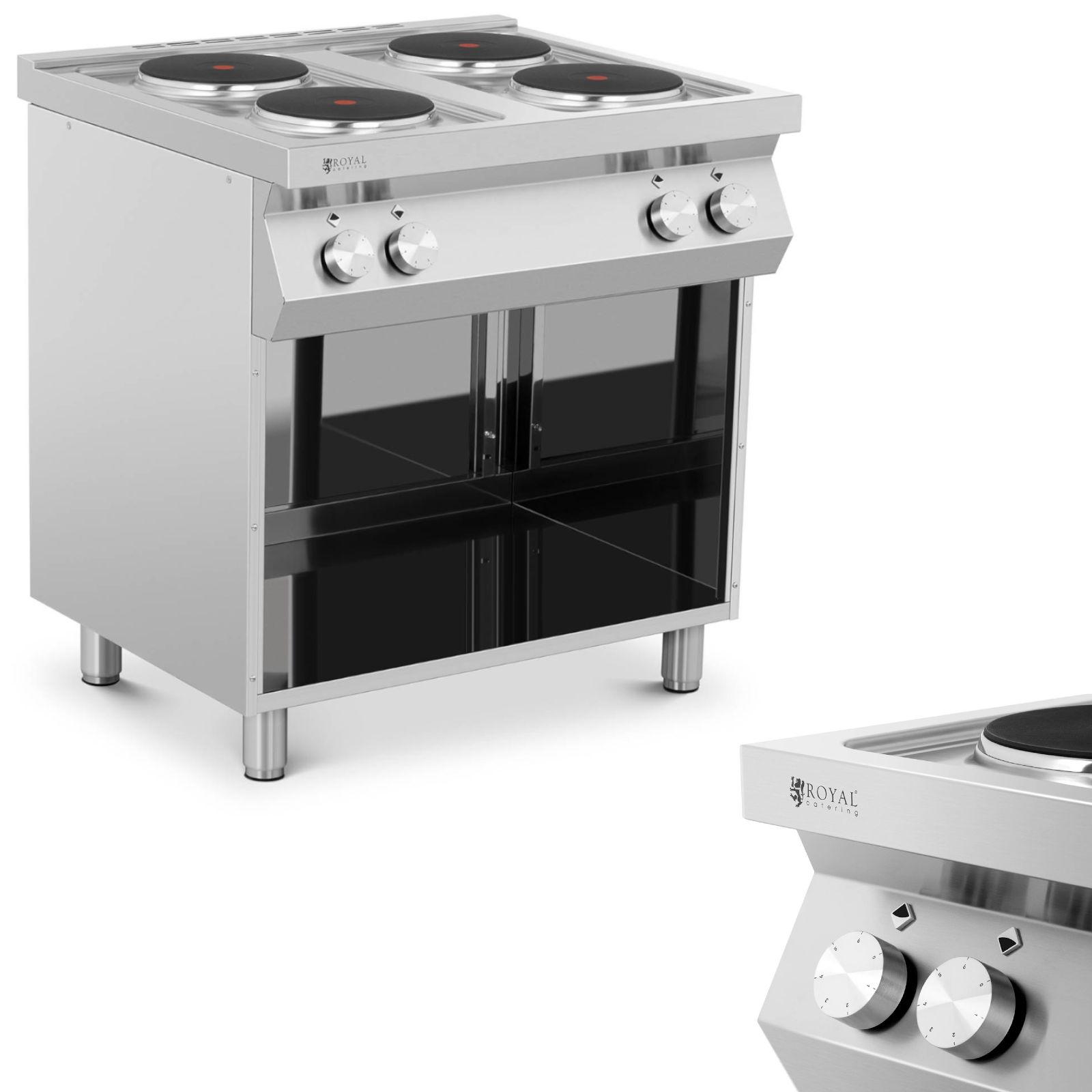 Made In Italy Kuchnia Elektryczna 4 Palnikowa Z Otwarta Podstawa 4 X 2600w