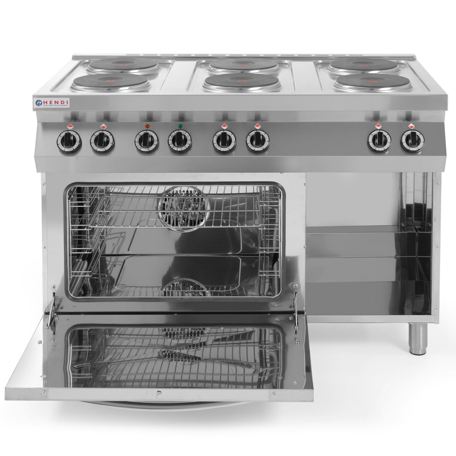 Kuchnia Elektryczna Wolnostojąca 6 X 26kw Z Piekarnikiem Gn11 3kw Szer 120cm